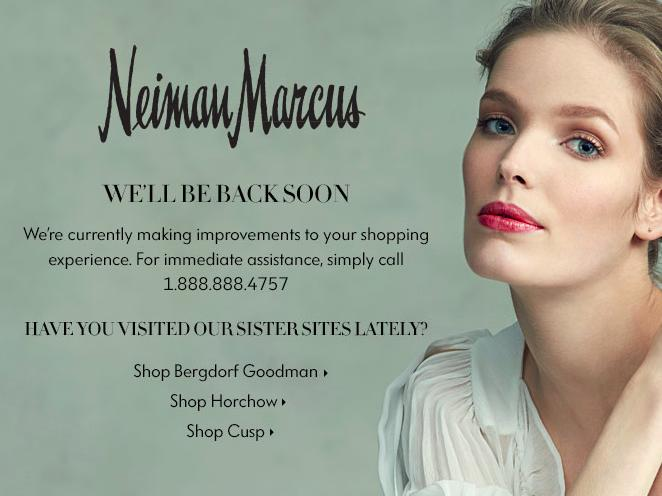 Because its website crashed on Black Friday, Neiman Marcus is doing Black Saturday