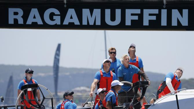 The crew of Ragamuffin 100 prepare to start in the Sydney to Hobart Yacht Race