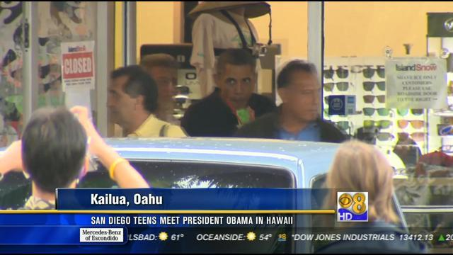 San Diego teens meet President Obama in Hawaii 1