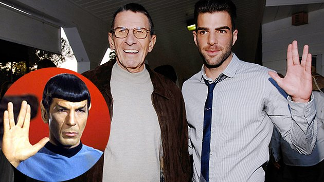 Leonard Nimoy and Zachary Quinto
