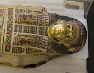 The mummy of the young woman is in its coffin at the Redpath Museum in Montreal. Its coffin is finely decorated with a gilded face however her name is unknown.