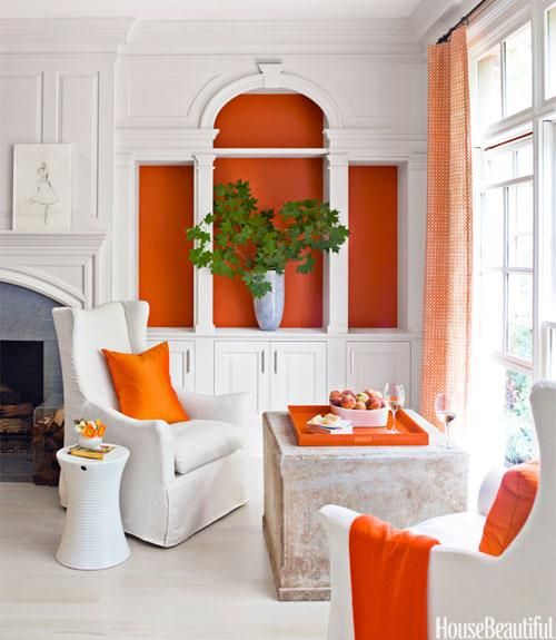 Orange Bookcase