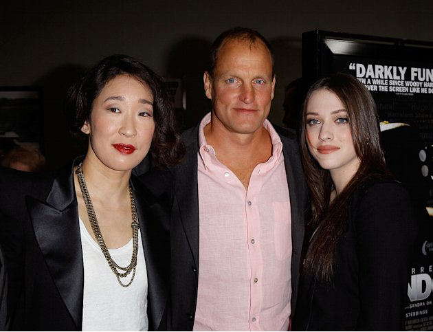 Defendor LA premiere 2010 Sandra Oh Woody Harrelson Kat Dennings