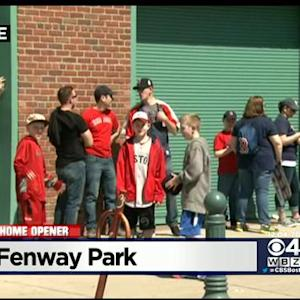 Fans Gather At Fenway Park For Opening Day