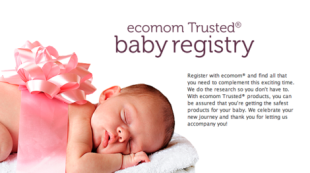 Set up an eco-friendly baby registry 
