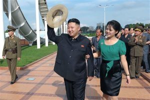 File photo of North Korean leader Kim Jong-Un and his wife Ri Sol-Ju attending the opening ceremony of the Rungna People's Pleasure Ground in Pyongyang