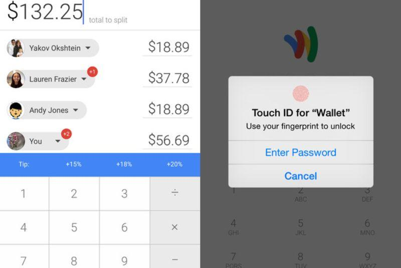 Google Wallet for iOS now supports Touch ID and helps you split the bill