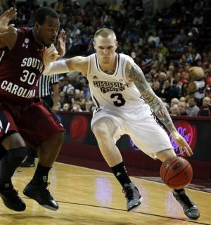 Mississippi State beats South Carolina 56-54