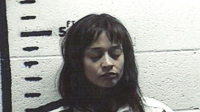 This handout photo provided by the Hudspeth County Sheriff's Office shows Fionna Apple. The singer-songwriter has been arrested for hashish possession in Sierra Blanca after a Border Patrol drug-sniffing dog detected marijuana in her tour bus. Sierra Blanca Sheriff's office spokesman Rusty Flemming says the artist spent Wednesday night at the Hudspeth County jail and would be bonded out Thursday. (AP Photo/Hudspeth County Sheriff's Office)