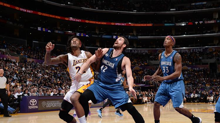 Timberwolves end 22-game skid vs Lakers, 113-90