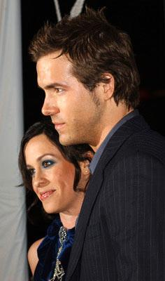 Premiere: Alanis Morissette and Ryan Reynolds at the Hollywood premiere of New Line Cinema's Blade: Trinity - 12/7/2004