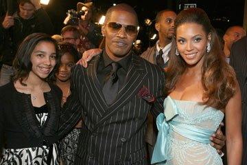 Corrine Marie Foxx, Jamie Foxx and Beyonce Knowles at the Los Angeles premiere of DreamWorks Pictures' and Paramount Pictures' Dreamgirls