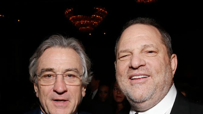 Actor Robert De Niro, left, and producer Harvey Weinstein attend the 24th Annual Producers Guild (PGA) Awards at the Beverly Hilton Hotel on Saturday Jan. 26, 2013, in Beverly Hills, Calif. (Photo by Todd Williamson/Invision for Producers Guild/AP Images)