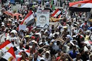 Egyptians protest in Cairo'sTahrir Square in July 2012. Thousands of Egyptian demonstrators angered by a film deemed offensive to Islam tore down the US flag during a protest at the embassy in Cairo on Tuesday, witnesses told AFP.