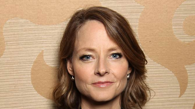 """FILE - In this July 13, 2012 file photo, actress, Jodie Foster, from the upcoming film """"Elysium,"""" poses for a portrait during Comic-Con, in San Diego. Foster is famous for the strong screen persona and versatile talent she's displayed over her 47 years as an actress. (Photo by Matt Sayles/Invision/AP, File)"""