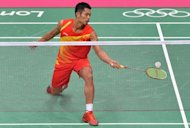 China's Lin Dan during his men's semi-final match against South Korea's Lee Hyun Il at the London Olympics on August 3. Olympic badminton is saying goodbye to four modern greats at the London Games, but two of them -- Lin Dan and Lee Chong Wei -- look set to sign off with a classic final
