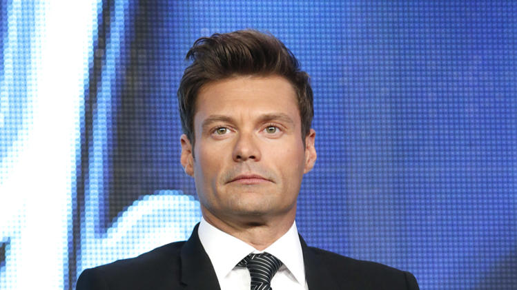 "Ryan Seacrest from ""American Idol"" attends the Fox Winter TCA Tour at the Langham Huntington Hotel on Tuesday, Jan. 8, 2013, in Pasadena, Calif. (Photo by Todd Williamson/Invision/AP)"