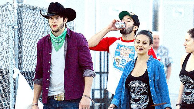 Ashton Kutcher and Mila Kunis Dance and Cuddle at Stagecoach