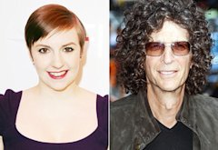 Lena Dunham, Howard Stern | Photo Credits: Jon Kopaloff/FilmMagic, Ray Tamarra/FilmMagic