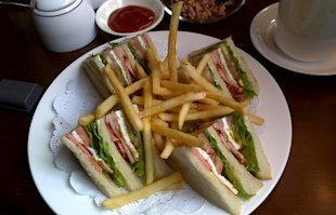 Club Sandwich: Most expensive room service