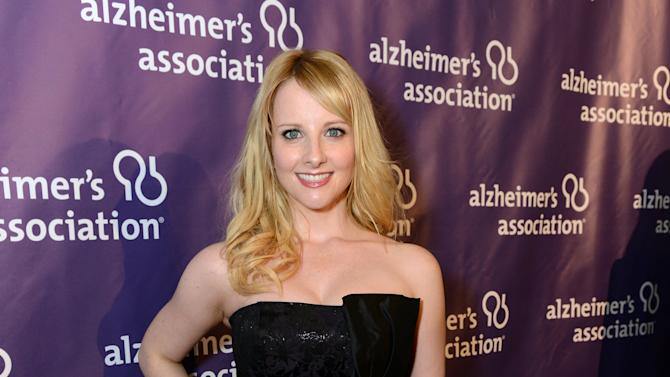 Actress Melissa Rauch arrives at the 21st Annual 'A Night at Sardi's' to benefit the Alzheimer's Association at the Beverly Hilton Hotel on Wednesday, March 20, 2013 in Beverly Hills, Calif. (Photo by Jordan Strauss/Invision for Alzheimer's Association/AP Images)