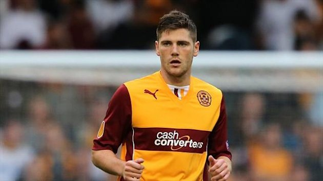 Iain Vigurs scored Motherwell's second goal against St Johnstone
