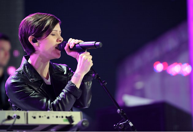 Sara Quin, of musical group Tegan and Sara, performs at the mtvU Woodie Awards on Thursday, March 14, 2013, in Austin, Texas. (Photo by Scott Gries/Invision for MTV/AP Images)