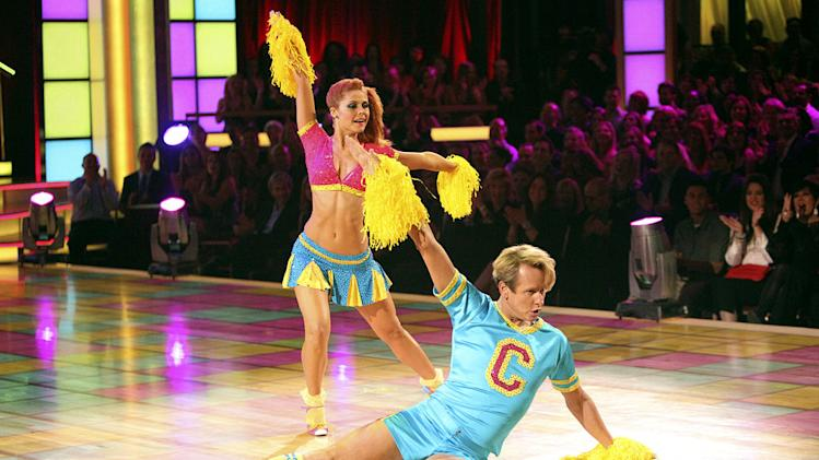 "Anna Trebunskaya and Carson Kressley perform on ""Dancing With the Stars."""