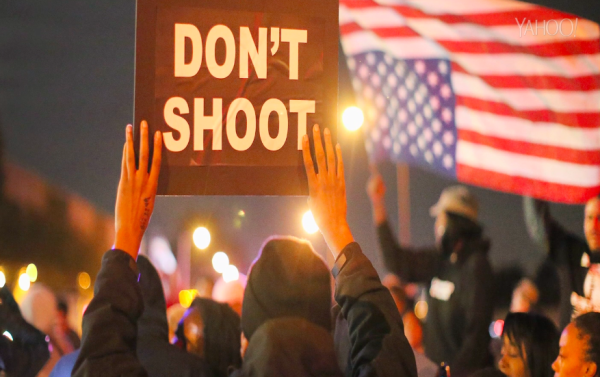Ferguson protesters rally across US for second day