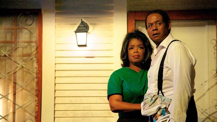 "FILE - This undated file film image provided by The Weinstein Company shows Oprah Winfrey as Gloria Gaines, left, and Forest Whitaker as Cecil Gaines in a scene from ""Lee Daniels' The Butler."" ""Lee Daniels' The Butler"" served up another box office-topping weekend, earning $17 million according to studio estimates Sunday, Aug. 25, 2013. (AP Photo/The Weinstein Company, Anne Marie Fox, File)"
