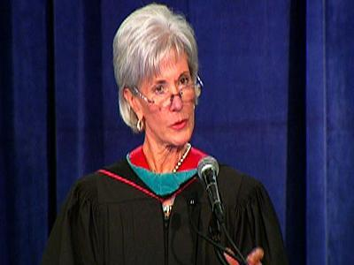 Sebelius heckled during Georgetown speech