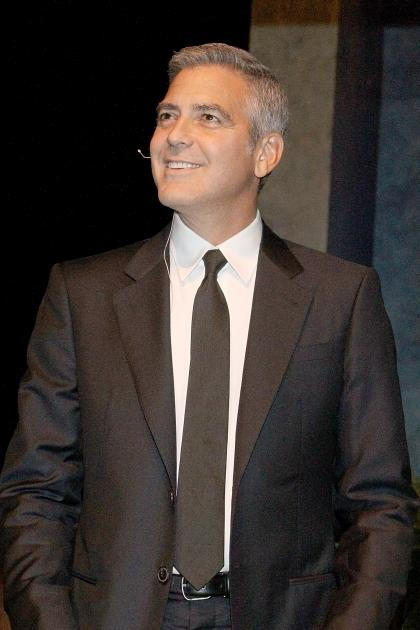 George Clooney speaks during 'A Conversation With George Clooney' at Wortham Center Brown Theater in Houston, Texas on May 3, 2012 -- Getty Images