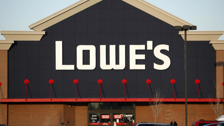 A customer walks out in front of a Lowe's store in Allen Park, Monday, Dec. 12, 2011. Lowe's is planning to stick by its decision to yank its ads from a reality TV show about American Muslims despite the growing opposition the home improvement chain is facing over the move. (AP Photo/Paul Sancya)