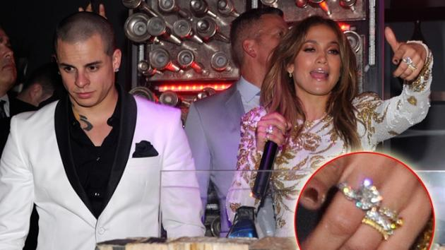 Jennifer Lopez and Casper Smart party in Las Vegas on May 27, 2012 -- Getty Images