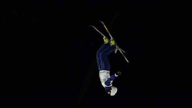 Rossi of the United States competes in the men's FIS World Cup aerial in Beijing