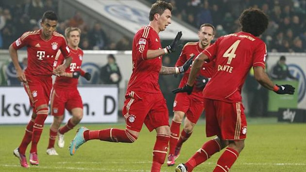 Mario Mandzukic scores for Bayern Münch