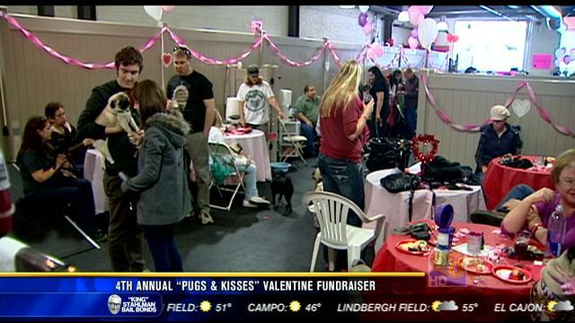 "4th annual ""Pugs & Kisses"" Valentine fundraiser"