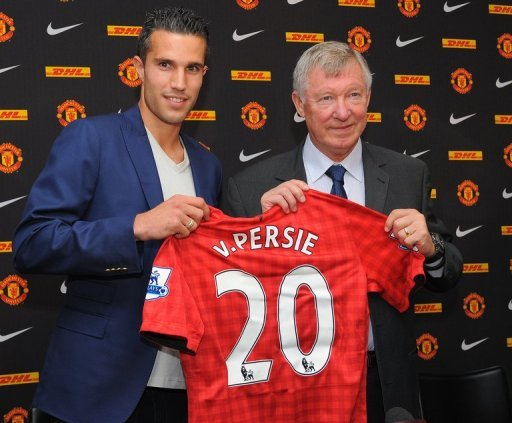 Robin van Persie (L) was Manchester United's biggest signing of the summer