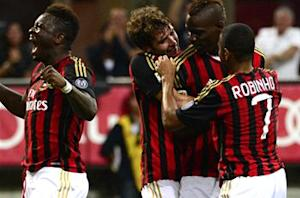 AC Milan 3-1 Cagliari: Balotelli on target as home side claims first Serie A win