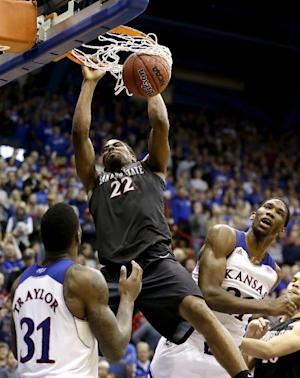 No. 21 Aztecs hold on to beat No. 16 Kansas 61-57
