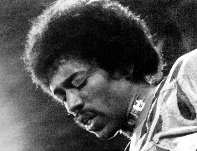 "FILE- In this 1970 file photo, Jimi Hendrix performs on the Isle of Wight in England. ""People, Hell & Angels,"" out Tuesday, will be the last album of Hendrix's unreleased studio material, according to"