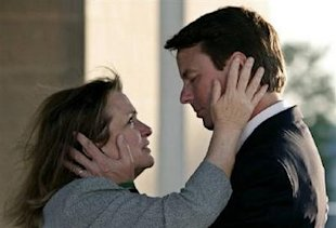 Reuters via Yahoo! News/Jim Young: Elizabeth and John Edwards in 2007.