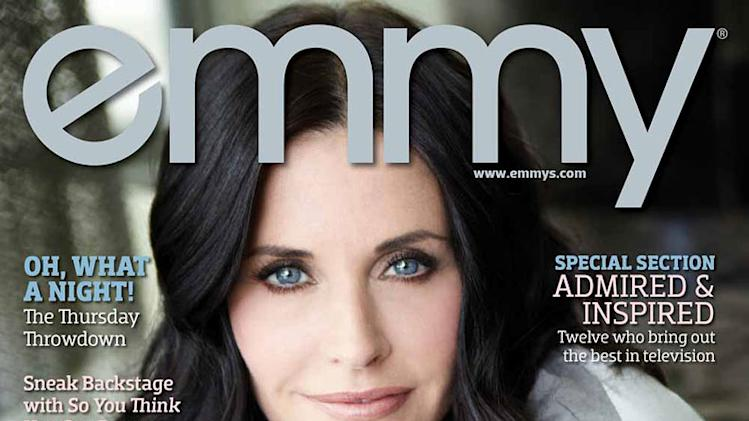 Courteney Cox in Emmy Magazine
