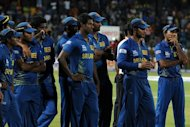 The Sri Lankan cricket team look on after losing to the West Indies at the World Twenty20 final on October 7. It was Sri Lanka&#39;s fourth successive loss in a major final, having stumbled twice in the title clash of the 50-over World Cups in 2007 and 2011 and also in the World Twenty20 in 2009