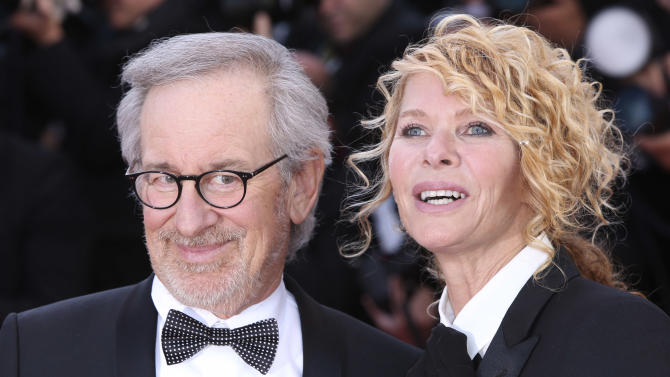 Director Steven Spielberg and Kate Capshaw arrive on the red carpet for the screening of Venus in Fur at the 66th international film festival, in Cannes, southern France, Saturday, May 25, 2013. (Photo by Joel Ryan/Invision/AP)