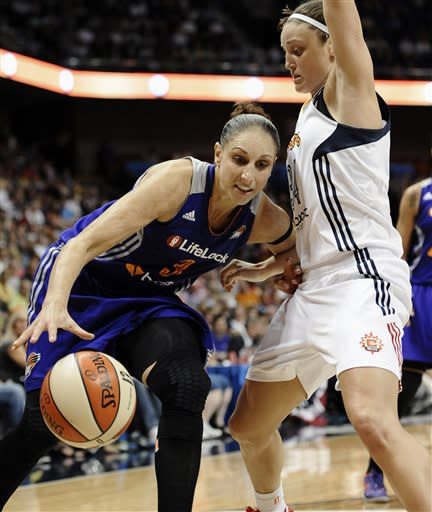 Taurasi, Bonner lead Mercury past Sun, 89-70