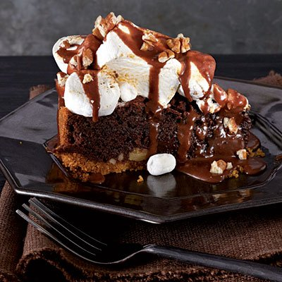 Mississippi Mud S&amp;#39;Mores-Fudge Pie