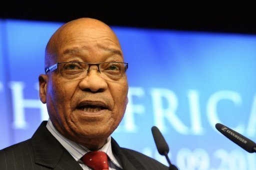 <p>President Jacob Zuma, seen here, waded into South Africa's churning labour crisis with a call for striking miners to return to work and for CEOs to freeze their pay, amid months of industrial unrest and bloodshed that threaten to derail the nation's economy.</p>