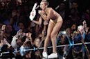 "Singer Miley Cyrus performs ""Blurred Lines"" during the 2013 MTV Video Music Awards in New York"