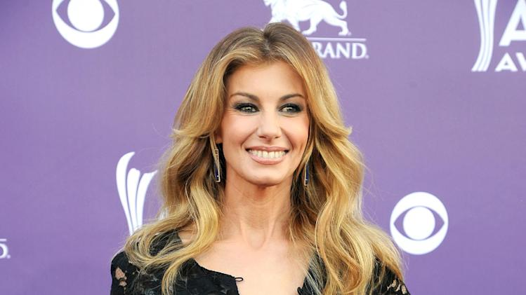 Singer Faith Hill arrives at the 48th Annual Academy of Country Music Awards at the MGM Grand Garden Arena in Las Vegas on Sunday, April 7, 2013. (Photo by Al Powers/Invision/AP)